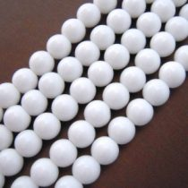 Fehér Porcelán Gyöngy 10mm