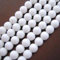 Fehér Porcelán Gyöngyfüzér 2mm