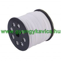 Fehér Selyemszínű (4) Műbőr Szál 2,7x1,4mm 1m
