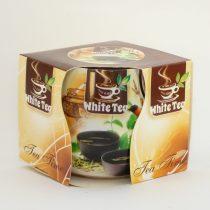 Fehér Tea Poharas Illatgyertya