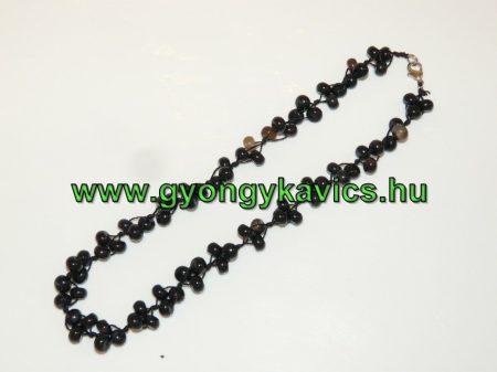 Fekete Achát Ásvány Nyaklánc 47,5cm