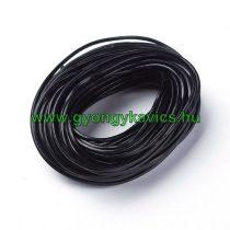Fekete (17) Bőrszál 2mm 1m