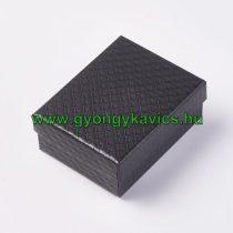 Fekete Elegáns Luxus Díszdoboz Ékszerdoboz Ajándékdoboz 10x8x4cm