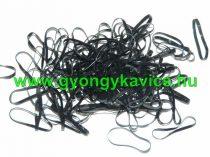 Fekete Gumi Hajgumi ~3cm 1db