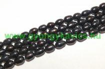 Fekete Kagyló Gyöngy Gyöngyfüzér 8-9x7-8mm