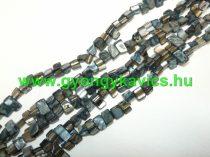 Fekete Kagyló Gyöngy Gyöngyfüzér 8x8x5mm
