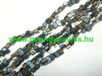 Fekete Kagyló Gyöngy 8x8x5mm