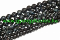 Fekete Kék Tigrisszem Ásványgyöngy Gyöngyfüzér 10mm