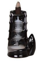 Fekete Kerámia Füstölő Kúp Füstölőkúp Égető Tartó Torony