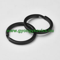 Fekete Színű Kulcstartó Karika 25mm