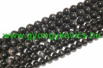 Fekete Macskaszem (Üveg) Ásványgyöngy Gyöngyfüzér 10mm