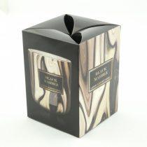 Fekete Márvány Luxus Parfüm Poharas Illatgyertya Szantálfa, Fekete Ribizli, Fekete Szeder