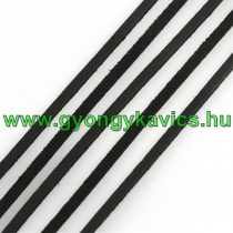 Fekete (1) Műbőr Szál 3x1mm 1m
