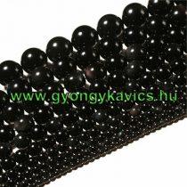 Fekete Obszidián Ásványgyöngy Gyöngyfüzér 12mm