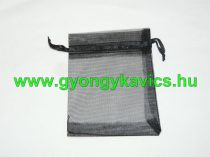 Fekete Organza Díszzacskó Dísztasak 15x20cm