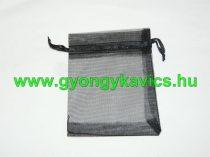 Fekete Organza Díszzacskó Dísztasak 9x12cm