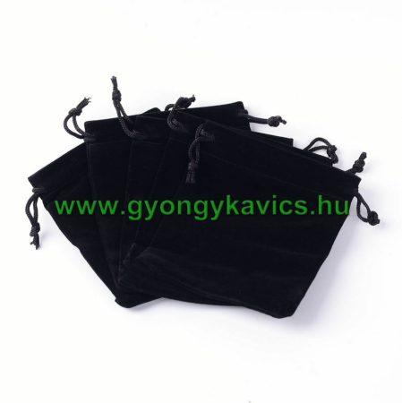 Fekete Plüss Díszzacskó Dísztasak 7x5cm