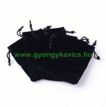 Fekete Plüss Díszzacskó Dísztasak 7x9cm