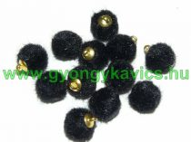 Fekete Pom Pom 12mm