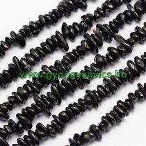 Fekete Spinel Ásványtörmelék Splitter Gyöngyfüzér 4-12mm