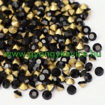 Fekete (14) Strassz Csomag 2mm (~400-500db)