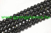 Fekete Szintetikus Gyöngy Valódi Kagyló Darabokkal Gyöngyfüzér 8mm
