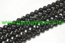 Fekete Szintetikus Gyöngy Valódi Kagyló Darabokkal 8mm