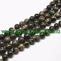 Fekete Tengeri Jáspis Regalit Ásványgyöngy Gyöngyfüzér 10mm