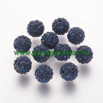 Fekete Türkiz Színű Nyaklánc Karkötő Ékszer Dísz Polymer Polimer Shamballa Strassz Kövekkel 8mm