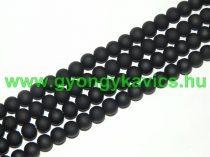 Fekete Színű Festett Üveggyöngy 8mm