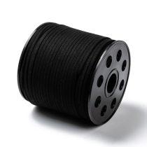 Fekete (136) Műbőr Velúr Szál 3mm 1m