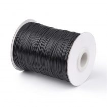 Fekete (17) Viaszolt Kordszál 1.0mm 1m