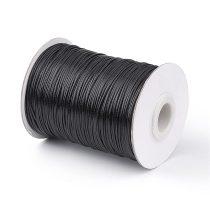 Fekete (17) Viaszolt Kordszál 1.0mm 1mm 1m