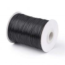 Fekete (59) Viaszolt Kordszál 0.8mm 1m