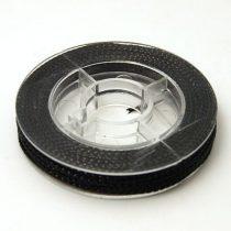 Fényes Fekete (3) Kordszál 0.6mm 10m