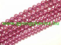 Fényes Rózsaszín Lávakő Ásványgyöngy Gyöngyfüzér 10mm