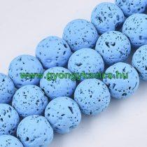 Festett Kék Lávakő Ásványgyöngy 10mm