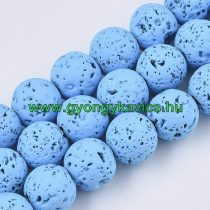 Festett Kék Lávakő Ásványgyöngy Gyöngyfüzér 6mm