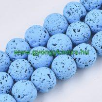 Festett Kék Lávakő Ásványgyöngy 6mm