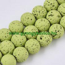 Festett Lime Zöld Lávakő Ásványgyöngy Gyöngyfüzér 6mm