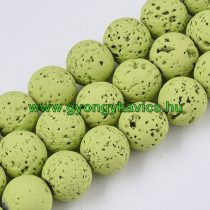 Festett Lime Zöld Lávakő Ásványgyöngy Gyöngyfüzér 8mm