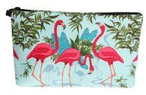 Flamingó Kistáska Neszeszer Tároló Kozmetikai Táska 22x14cm