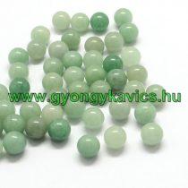 Fúratlan Zöld Aventurin Ásványgyöngy 10mm