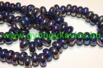 Galvanizált Szivárványos Kék Szürke Porcelán Charm Köztes Gyöngy 12-13x6,5mm