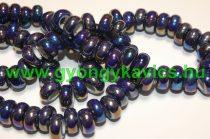 Gyöngyház Galvanizált Szivárványos Kék Szürke Porcelán Charm Köztes Gyöngy 12-13x6,5mm