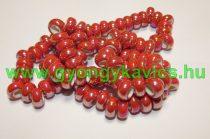 Gyöngyház Galvanizált Szivárványos Piros Porcelán Charm Köztes Gyöngy 12-13x6,5mm