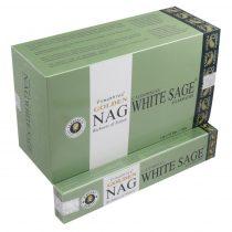 Golden NAG Vijayshree Kaliforniai Fehér Zsálya Californian White Sage Agarbathi Füstölő
