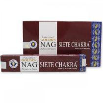 Golden NAG Vijayshree Seven Chakra 7 Csakra Masala Agarbathi Füstölő