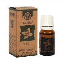 Goloka Bazsalikom Díszdobozos Indiai Prémium 100%-os Illóolaj