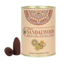 Goloka Szantál Sandalwood Füstölő Kúp